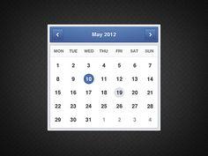 Minimal Calendar PSD