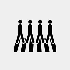 Abbey Road - The Beatles Pictogram