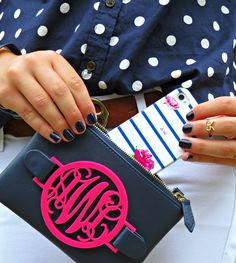 Polka Dots and Stripes (@collegeprepster x Minnie and Emma Phone case)