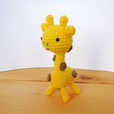 Butternut the giraffe, cute crocheted amigurumi toy! Ideal nursery decor! Also perfect for safari themed baby showers or birthday parties!