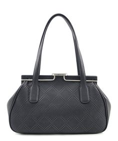 Look what I found on #zulily! Black Perforated Double-Handle Satchel #zulilyfinds