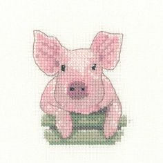 Pig | Heritage Crafts Counted Cross Stitch Kit