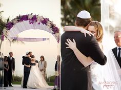 Wedding featured in @theKnot. Beautiful chuppah on Key Biscayne #southfloridaweddings