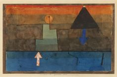Paul Klee - Contrasts in the evening (Blue and orange), 1925-25 #arte