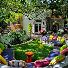 Colorful outdoor living