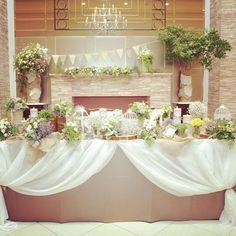 @arkangel_geihinkan_utsunomiyaのInstagram写真をチェック • いいね!48件 Wedding Images, Wedding Styles, Garden Wedding, Wedding Table, Wedding Decorations, Table Decorations, Bridesmaid Dresses, Wedding Dresses, Wedding Flowers