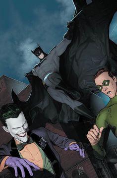 Detective Comics variant cover - Batman, The Joker and Riddler by Mikel Janin, colours by Jordie Bellaire * Batman And Batgirl, I Am Batman, Batman Dark, Superman, Batman 1966, Batman Artwork, Batman Comic Art, Joker Art, Batman Wallpaper