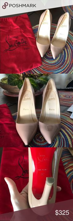 Christian louboutin nude pumps size 7 Authentic and worn maybe 2 or 3 times Christian Louboutin Shoes Heels