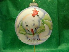 I Can't Believe It's Spring Snowman by JansOrnaments on Etsy