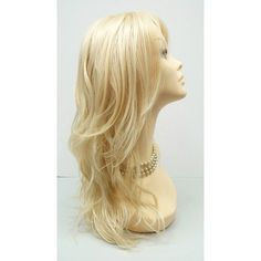 Long 18 Inch 613 Blonde Wavy Fashion Wig With Premium Heat Resistant... (185 PLN) ❤ liked on Polyvore featuring beauty products, haircare, hair styling tools, hair, bath & beauty, black, hair care, wigs, curling iron blow dryer and dryer curling iron