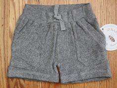 Burt's Bees Baby Girls Knit Terry Shorts ~ Gray  ~ 3-6 Months ~ Organic Cotton ~ #Shorts #Everyday
