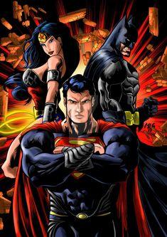 Discusssion forums about all your favorite superheroes like Batman, Superman, Spider-man, Iron Man, and Heroes United, Dc Heroes, Batman Vs Superman, Superman Artwork, Dc Trinity, Batman Wonder Woman, Man Of Steel, Steel Dc, American Comics