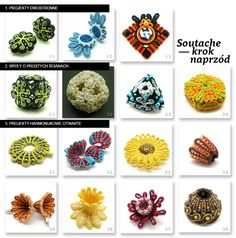 Digital manual: Soutache - one step beyond Double-sided and spatial forms: 30 advanced exercises author: Alina Tyro-Niezgoda Pdf file contains 142 Diy Jewellery Designs, Diy Jewelry Projects, Diy Jewelry Tutorials, Good Tutorials, Diy Jewelry Making, Jewelry Crafts, Soutache Pattern, Soutache Tutorial, Shibori