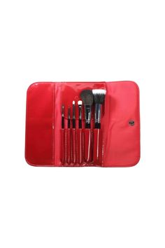 masami shouko glossy red makeup brush case