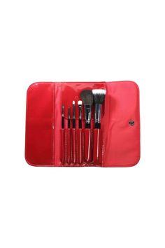 masami shouko glossy red makeup brush case