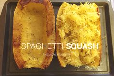 Spaghetti Squash1 Spaghetti SquashSeasoning of Choice (Pepper)2 Tbsp Olive OilPreheat oven to 350 degrees. Wash spaghetti squash and place on a cutting board. With a large knife cut your s