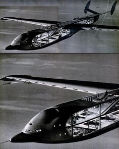 Giant flying aircraft carrier concept from Grover Loening. Art by Mike Ramus.