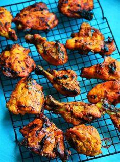 Chicken Tandoori in Oven. Indian Chicken Recipes, Chicken Recipes Video, Indian Food Recipes, Ethnic Recipes, Indian Foods, Indian Dishes, Tandoori Chicken Marinade, Tandoori Recipes, Butter Chicken