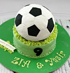 """A soccer theme cake - chocolate heaven """" May your choices reflect your hopes,not your fears!!"""