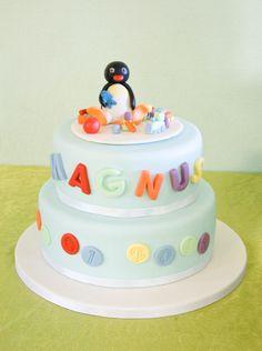 Pingu christening cake