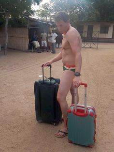 Passenger wearing nothing but Speedos and flip-flops almost grounded at Malawi airport  A South African passenger flying from Malawi raised fellow passengers' eyebrows and was almost refused boarding as he was only wearing his swim uniform of Speedos and flip-flops.<p>Greig Bannatyne checked in wearing nothing but Speedos and a pair of flip-flops for a South African airways flight at …  http://www.lonelyplanet.com/news/2016/12/21/passenger-speedos-grounded-malawi/