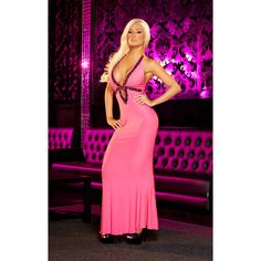 HUSTLER SEXY GOWN PINK - S/M SALE:  69.01€