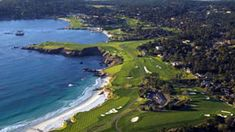 Pebble Beach Golf Links.  Pick a sunny day in the fall or early summer for the best weather.  Spyglass might be my favorite of the courses as it has Ocean, Forest, Hills / Terrain plus free ranging Deer.