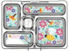 The PlanetBox Rover is a stainless steel bento style lunch box with 5 compartments which guides you in packing a well-balanced, litter free lunch. The PlanetBox is a food safe stainless steel lunch box that keeps food separate and will help you replace single-use plastic and paper and save money by buying food in bulk. Tv Dinner Trays, Diets For Picky Eaters, Planet Box, Stainless Steel Lunch Box, Lunch Containers, Plastic Trays, Lunch To Go, Bento Box Lunch, Group Meals