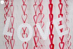 These paper heart chains are fun and easy to make, and they're a cute way to add a bit of festive Valentine's charm to your home!