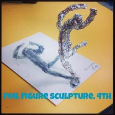 Foil Figure Sculpture | Mrs. Knight's Smartest Artists | Bloglovin'