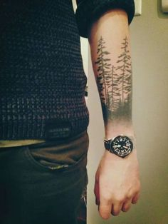 forest forearm tattoo - 45 Inspirational Forest Tattoo Ideas  <3 <3