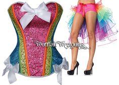 Para este CARNAVAL hoy te recomendamos este conjunto de corpiño y cola de tul multicolor al estilo Rio de Janeiro.  Corpiño: http://womanweapons.com/corsets-overbust/1022-corpino-multicolor-lentejuelas-rio-de-janeiro-10024.html 24.75€ tallas S, M, L  Falda: http://womanweapons.com/faldas/1023-media-falda-cola-de-volantes-de-tul-multicolor-rio-de-janeiro-9132.html 19.79€ talla única ajustable