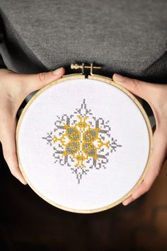 Traditional cross stitch pattern, ethno folk boho xstitch project, modern STAR cross stitch sampler contemporary stitching geometric pattern on Etsy, $4.05