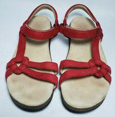 4e0092e06972ea Teva Womens Ventura Cork Sandals Size 7 Red Tan Open Toe Waterproof Leather   Teva