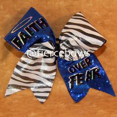 Items similar to Faith Over Fear Cheer Bow on Etsy Cute Cheer Bows, Cheer Hair Bows, Cheer Mom, Big Bows, Cheer Stuff, Softball Bows, Cheerleading Bows, Cheer Quotes, Cheer Outfits