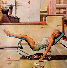 Working on tan, getting ready for the beach. She was on the cover of the Saturday Evening Post in May 1959.    George Hughes | Flickr - Photo Sharing!