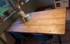 Tafel van steigerhout. #steigerhout #eettafel