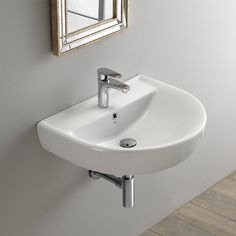 CeraStyle By Nameek's Bella Round White Ceramic Wall Mounted Sink Small Bathroom Sinks, Modern Master Bathroom, Bathroom Layout, Bathroom Ideas, Bathroom Inspiration, Master Bathrooms, Tiny Bathroom Makeovers, Handicap Bathroom, Cozy Bathroom