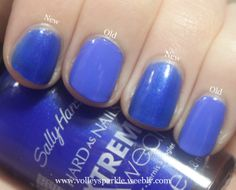 Sally Hansen Xtreme Wear Pacific Blue (New vs, Old) | Review  Swatches