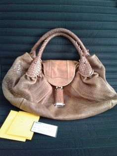 032fbe14ae19 Fendi Small Spy Bag in Lamb Leather - Brown