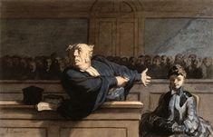 Il difensore, Honorè Daumier, 1862 - 65