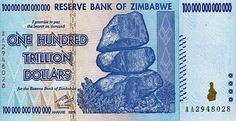 100 Trillion Zimbabwe Dollar Bank Note, LOL