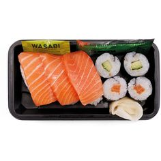 Wholesale retail fresh Japanese sushi boxes bento packs wraps |... ❤ liked on Polyvore featuring food, fillers, food and drink, fillers - orange and food & drinks