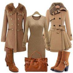 Bijzondere jurk, ook de jassen trouwens