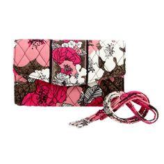 Vera Bradley Strap Wallet                           (Mocha Rouge)