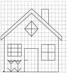 Reproduction sur quadrillage - Maison Reframed Graph Paper Drawings, Graph Paper Art, Pixel Art, Painting Corner, Pixel Drawing, Blackwork Embroidery, Cross Stitch Borders, English Paper Piecing, Loom Patterns
