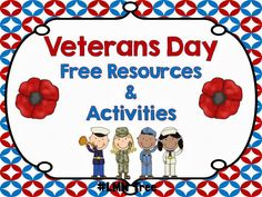 LMN Tree: Veterans Day Free Resources and Activities. Go to the websites on this page for some great ideas to teach students the importance of this day! Free Veterans Day, Veterans Day Activities, Holiday Activities, Classroom Activities, Activities For Kids, Classroom Ideas, Library Activities, Teaching Activities, Kindergarten Social Studies