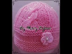 Cappellino Bimba a maglia(6-9 mesi)/Knit Baby Hat with Cable(6-9 M) - YouTube