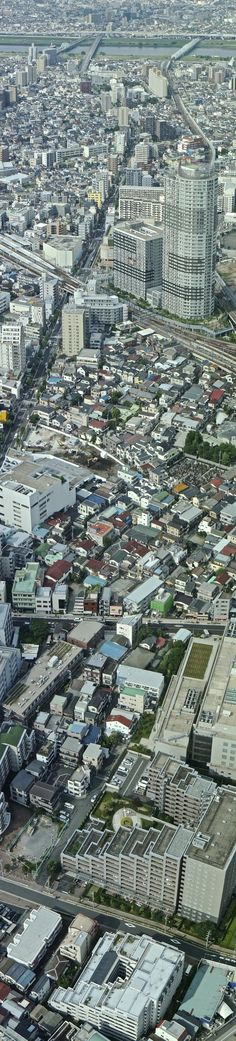 Vertical Panorama of Sumida, Tokyo. #concretejungle http://www.pinterest.com/TheHitman14/concrete-jungle-%2B/