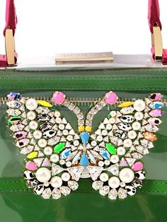 SHOUROUK - ACAPULCO PVC BAG WITH BUTTERFLY DETAIL - LUISAVIAROMA - LUXURY SHOPPING WORLDWIDE SHIPPING - FLORENCE